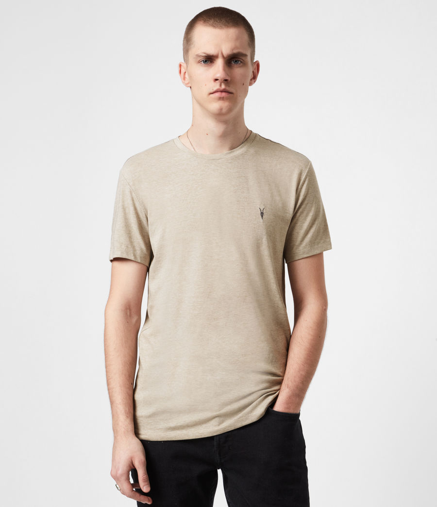 Mens Tonic Crew T-Shirt (pewter_grey_marl) - Image 1