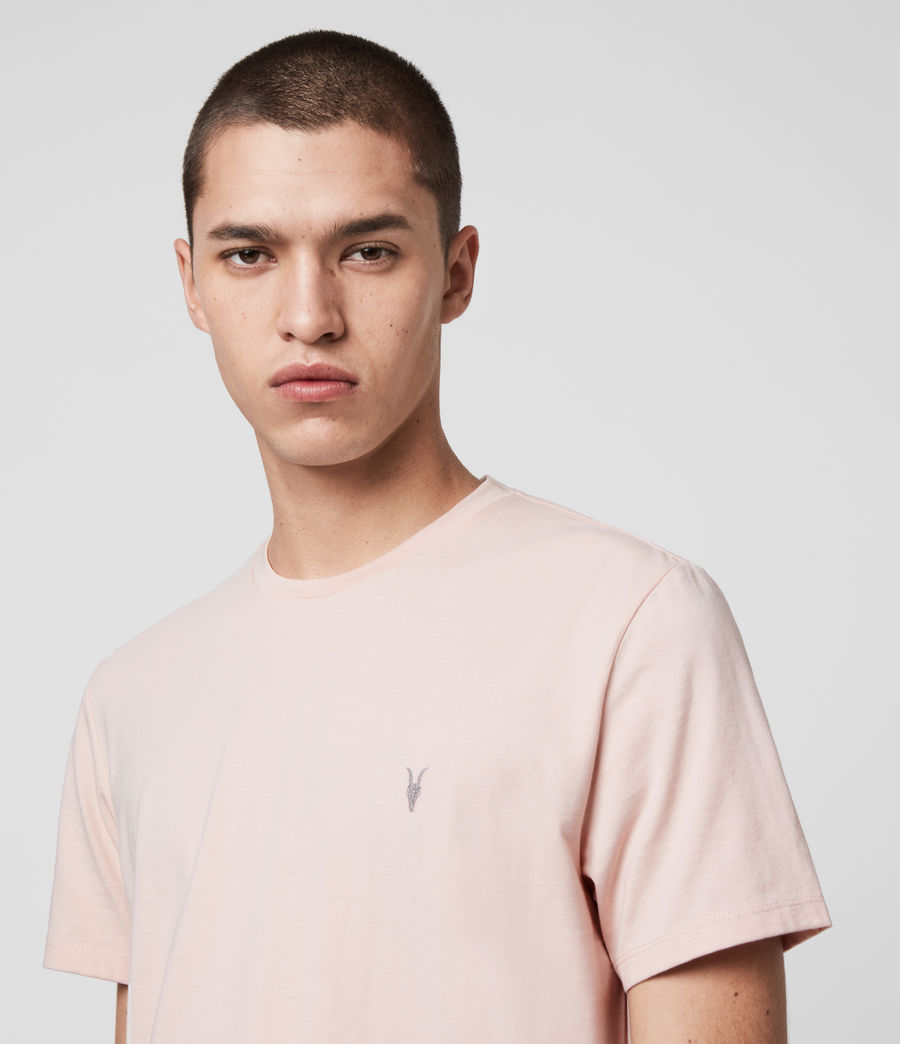 Hombres Laiden Crew T-Shirt (granite_pink_marl) - Image 2