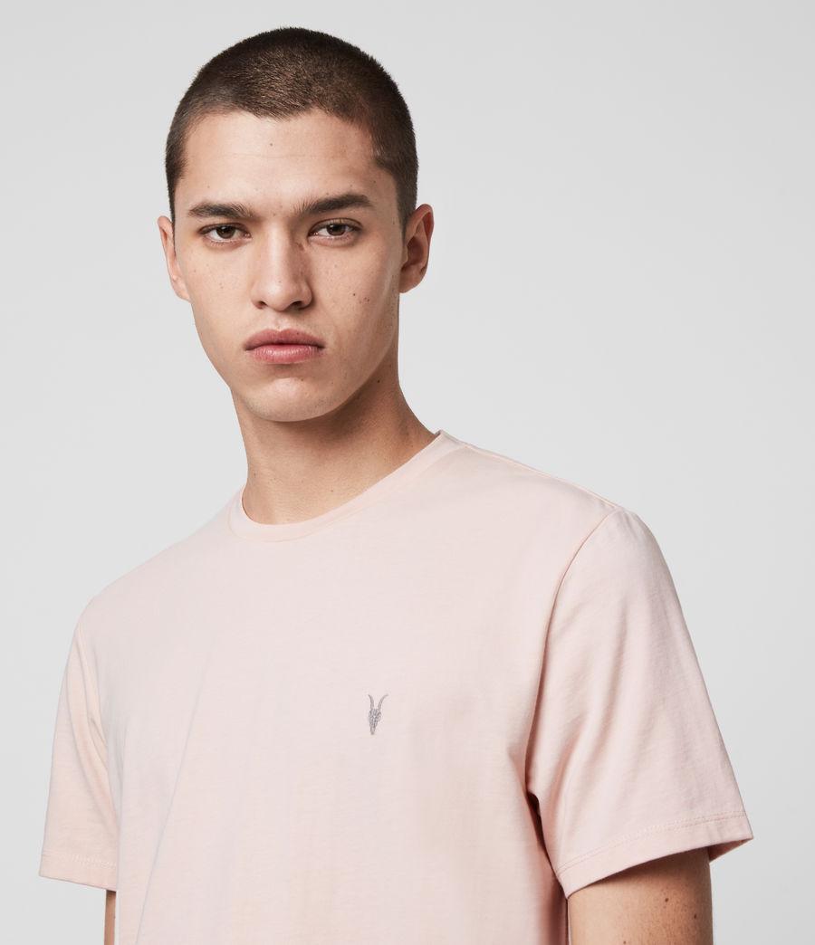 Herren Laiden Crew T-Shirt (granite_pink_marl) - Image 2