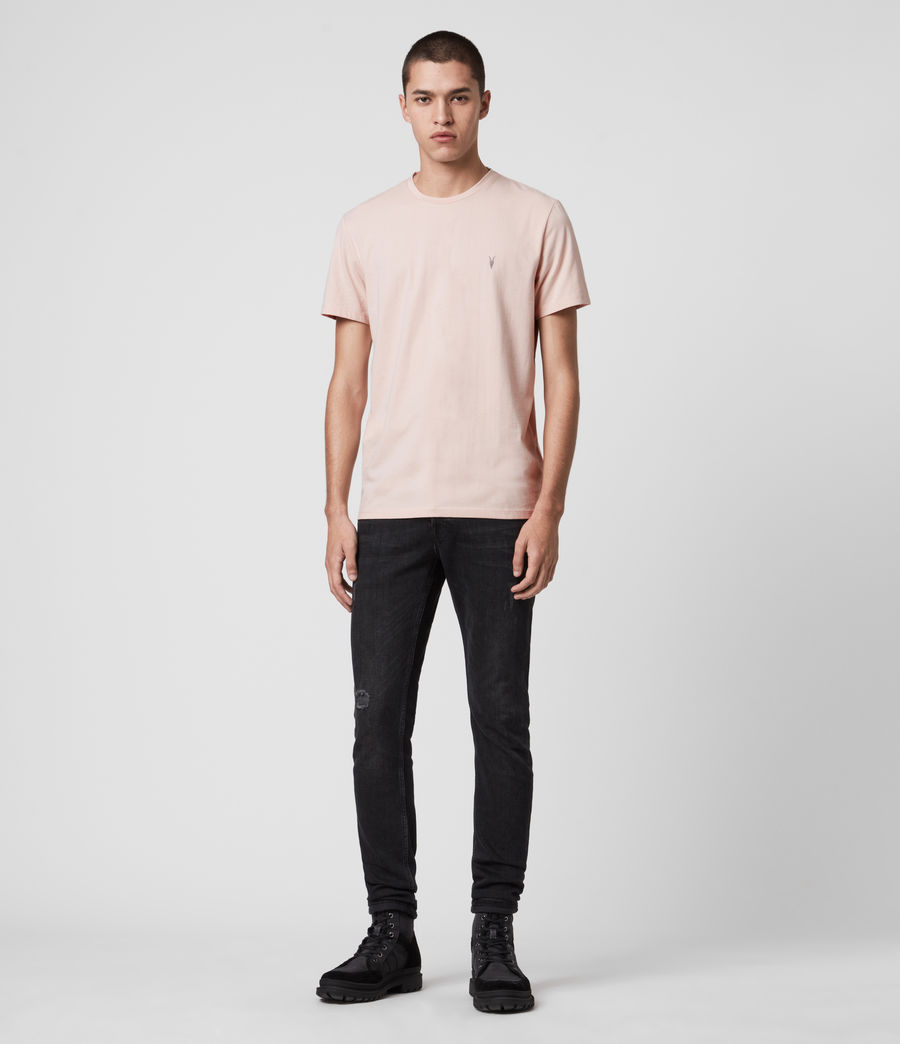 Herren Laiden Crew T-Shirt (granite_pink_marl) - Image 3