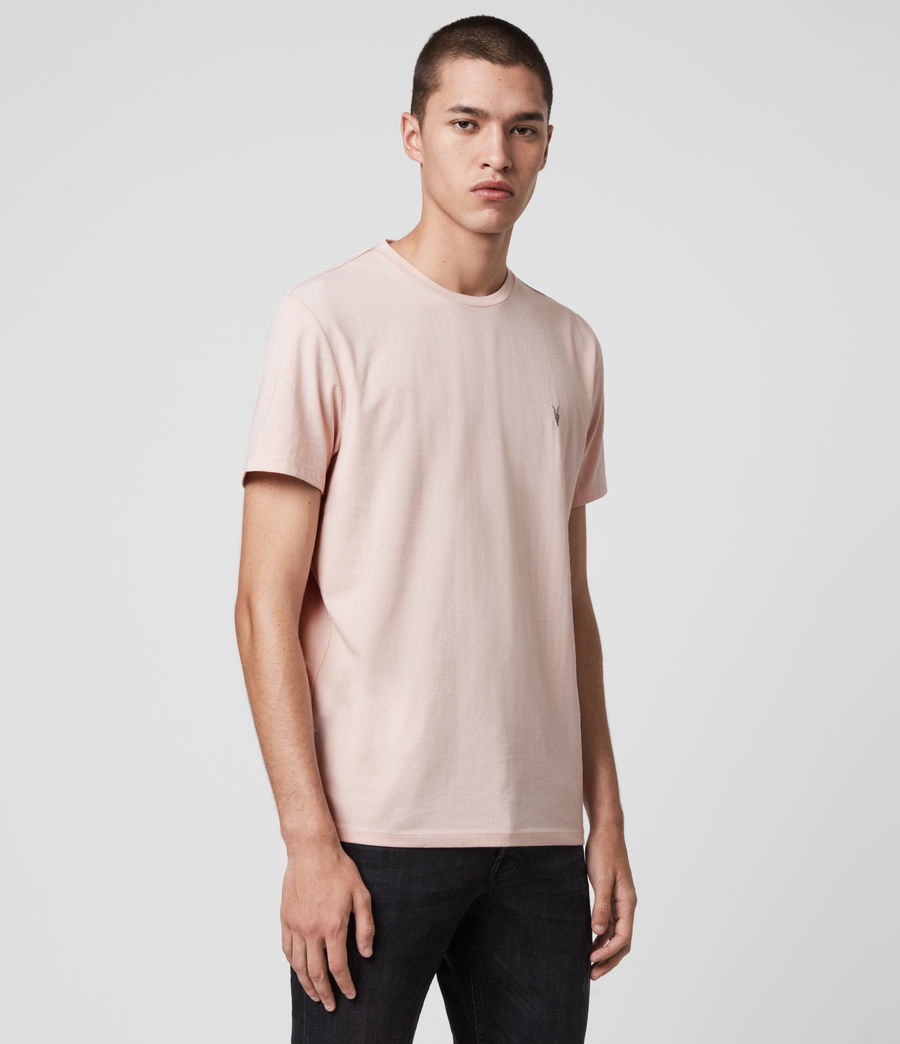 Herren Laiden Crew T-Shirt (granite_pink_marl) - Image 4