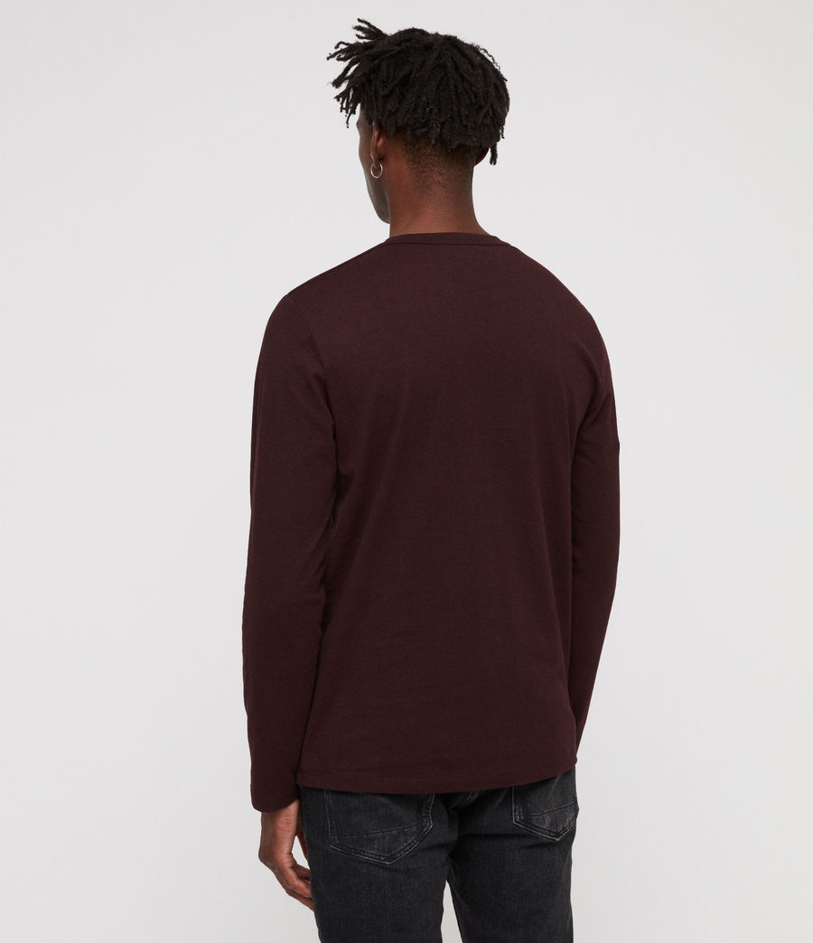 Men's Laiden Crew T-Shirt (deep_red) - Image 4