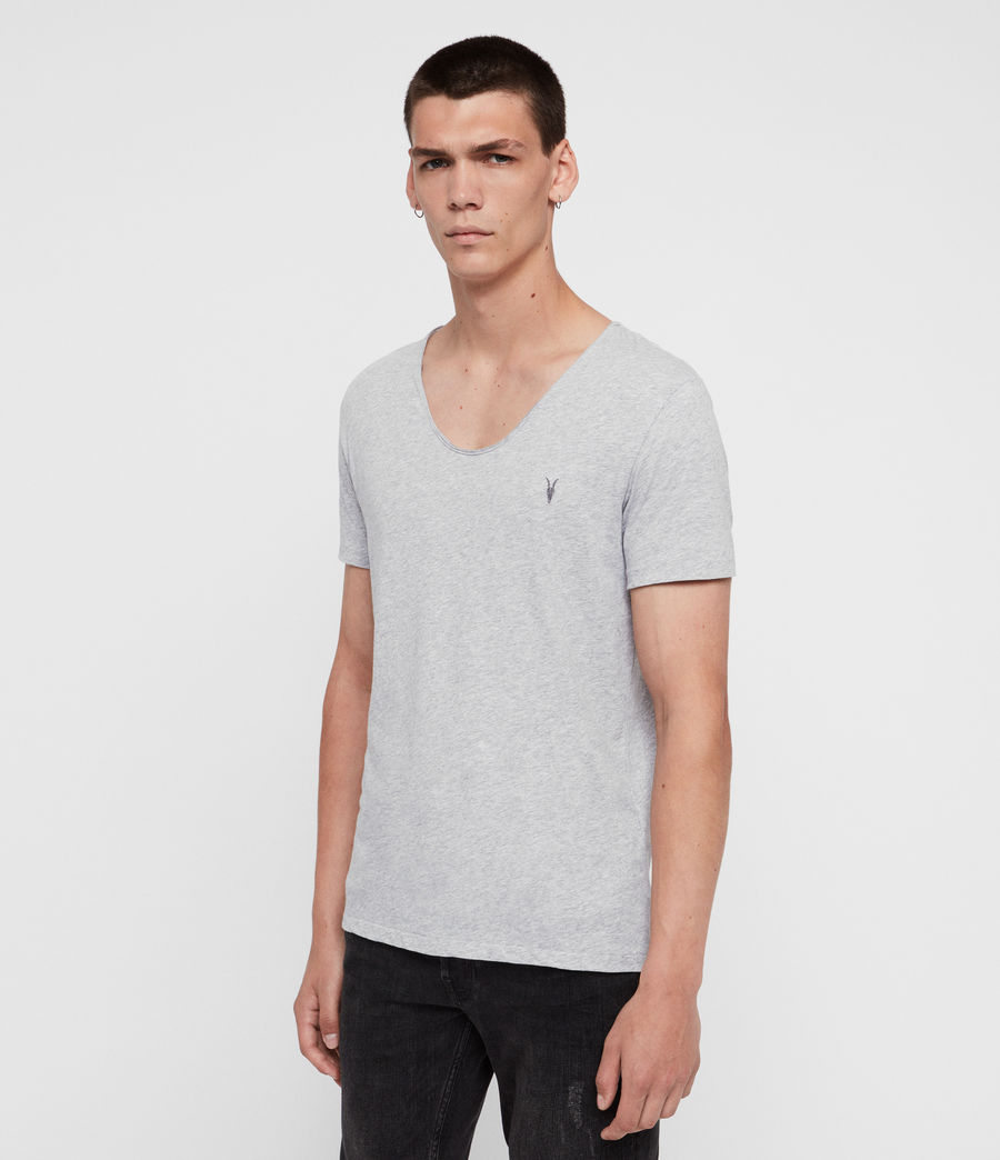Mens Tonic Scoop T-Shirt (grey_marl) - Image 2