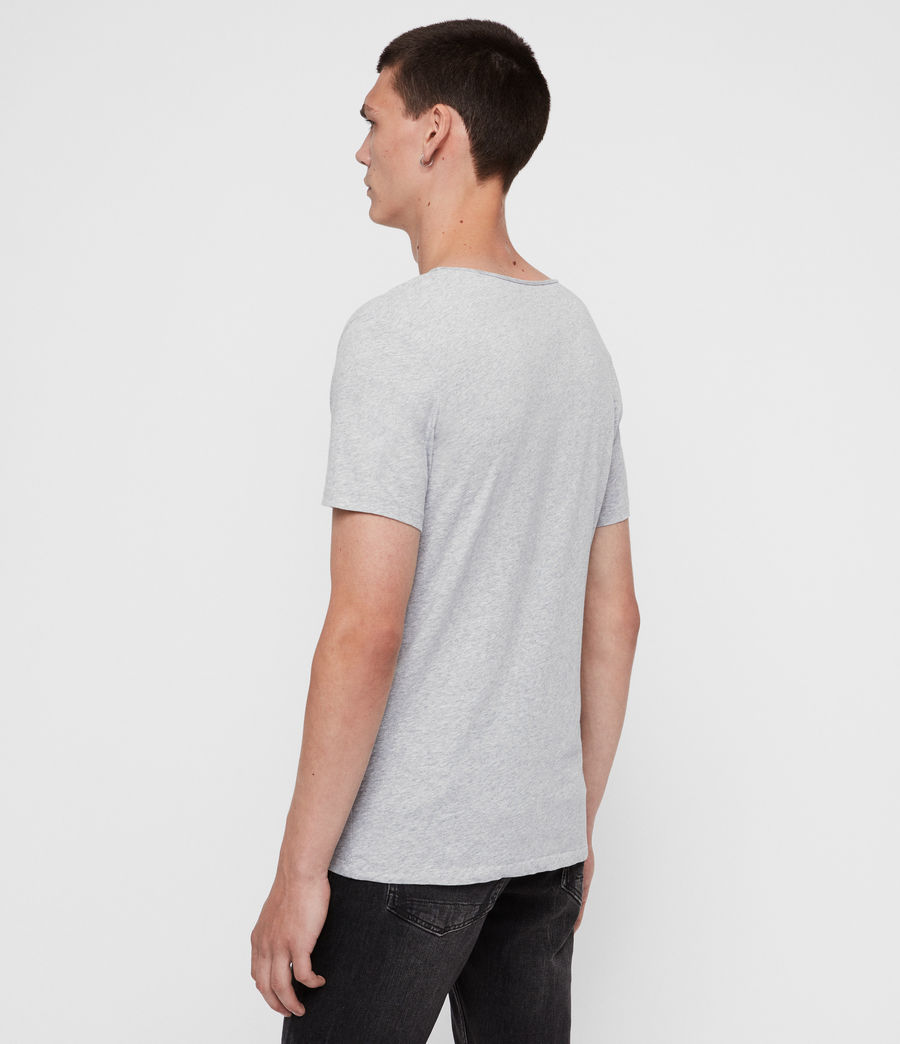 Mens Tonic Scoop T-Shirt (grey_marl) - Image 5