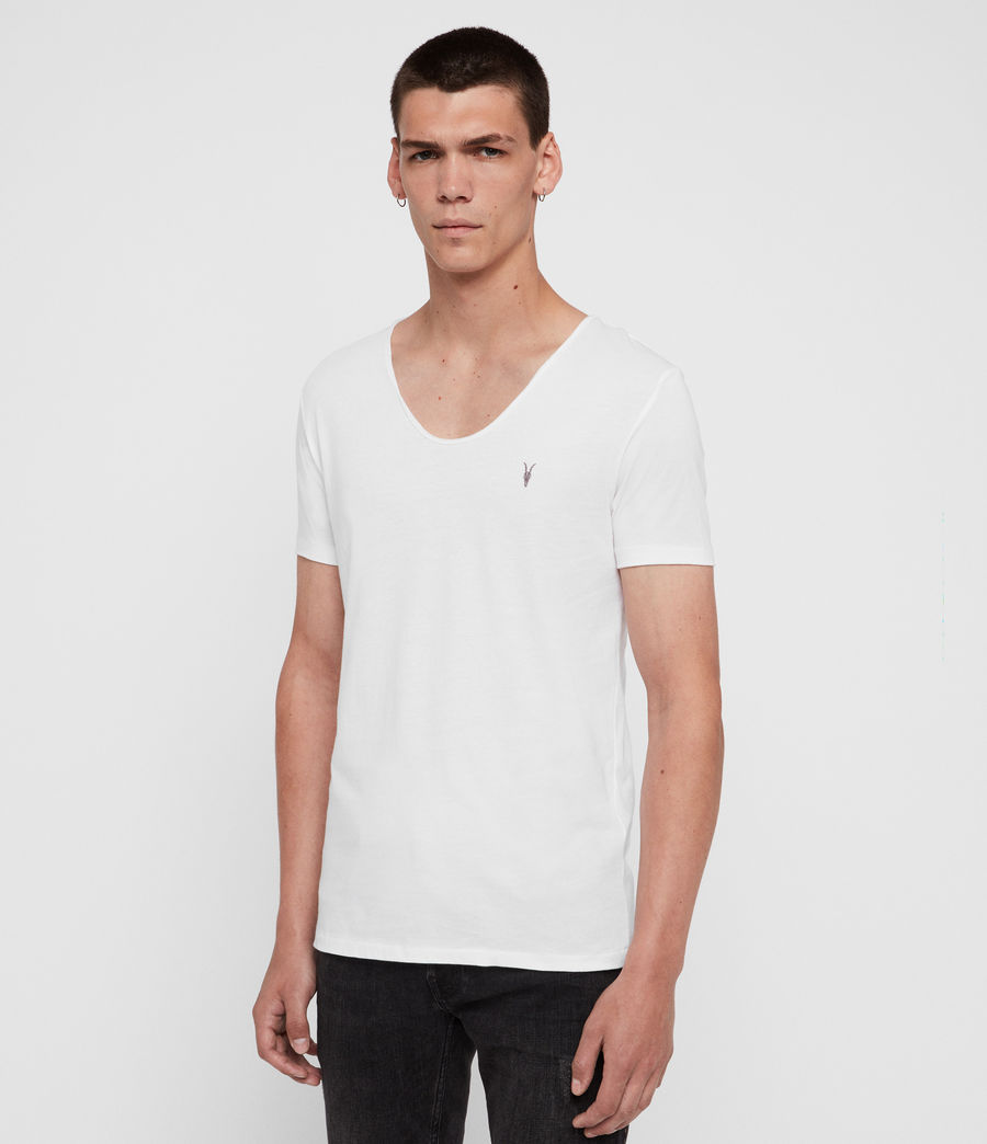Herren Tonic T-Shirt mit weitem Kragen (optic_white) - Image 2