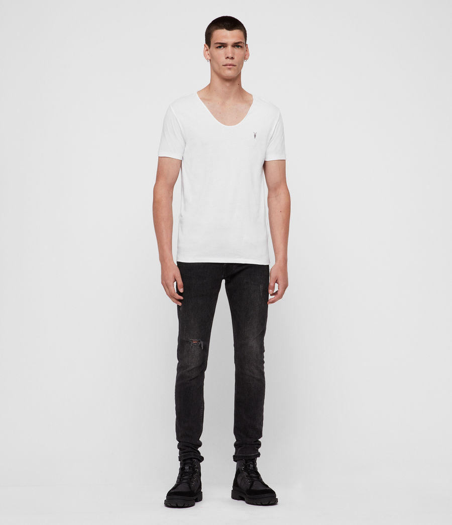 Herren Tonic T-Shirt mit weitem Kragen (optic_white) - Image 3