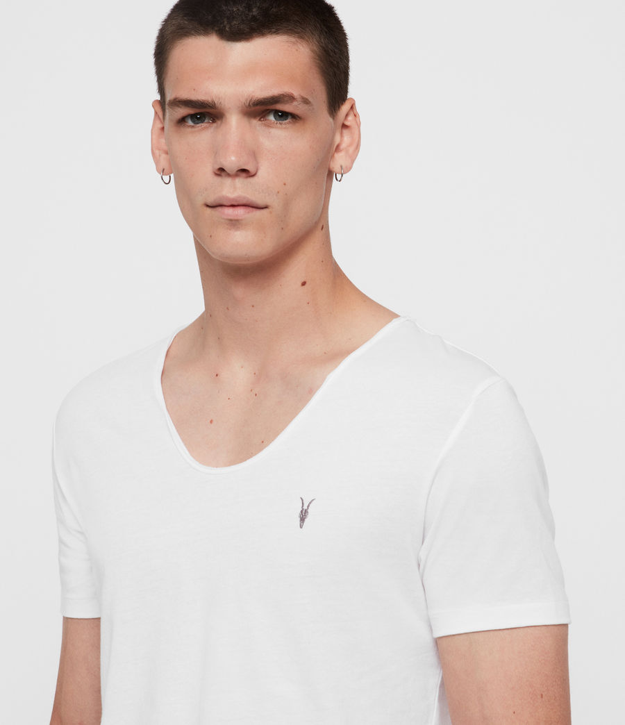 Herren Tonic T-Shirt mit weitem Kragen (optic_white) - Image 4