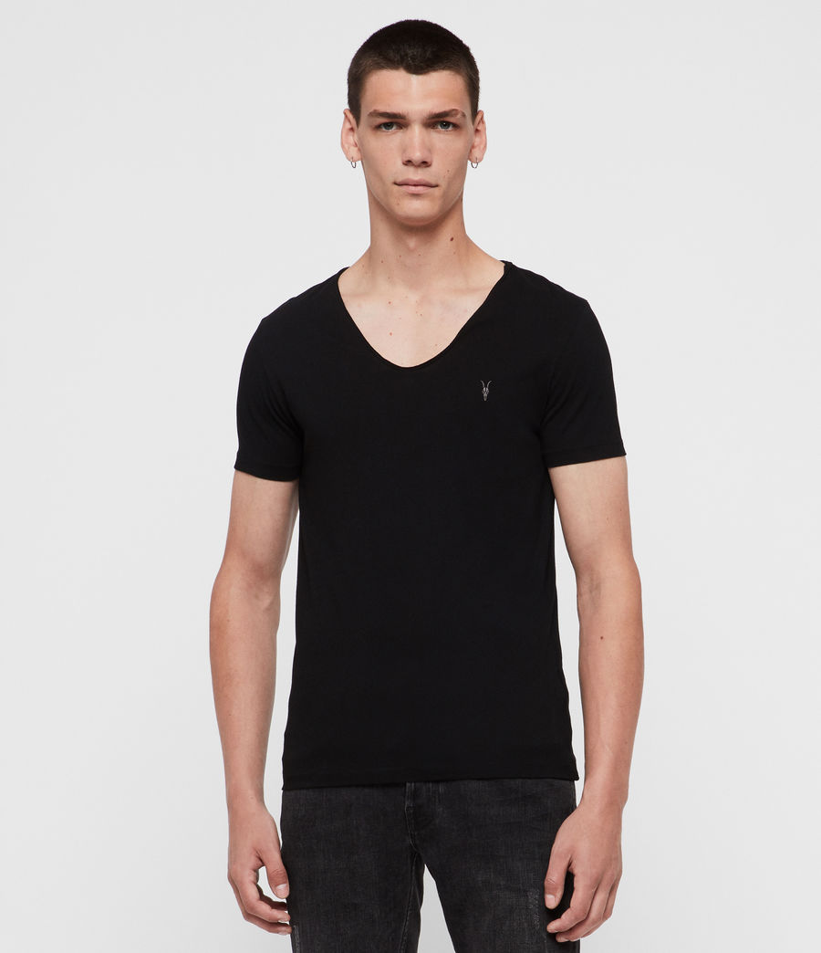 Mens Tonic Scoop T-Shirt (Jet Black) - Image 1