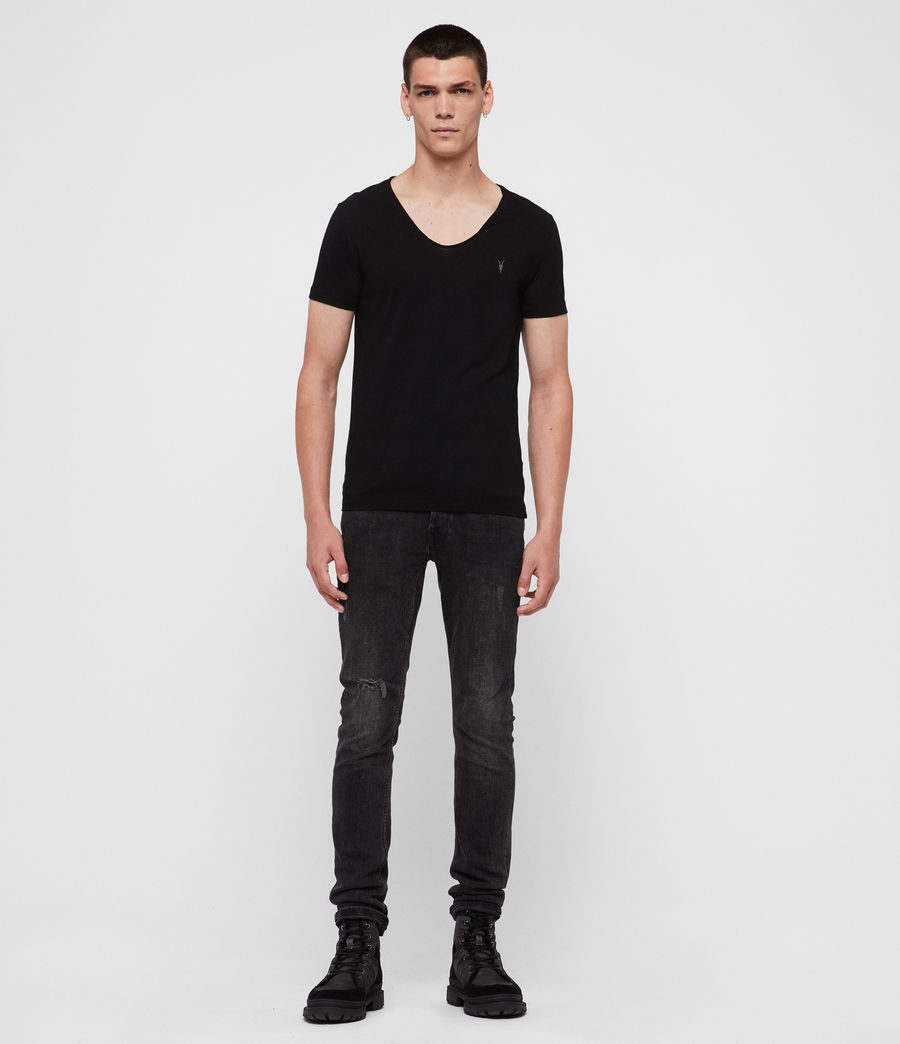 Mens Tonic Scoop T-Shirt (Jet Black) - Image 3