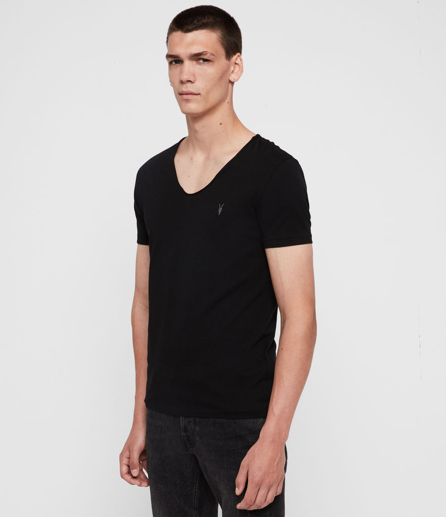Mens Tonic Scoop T-Shirt (Jet Black) - Image 4
