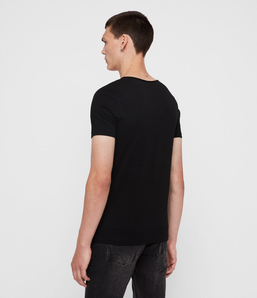 Mens Tonic Scoop T-Shirt (jet_black) - Image 5