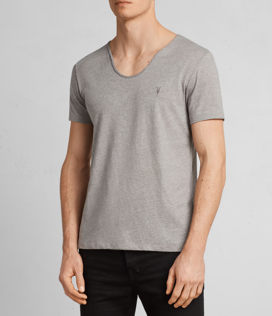 Mens Tonic Scoop T-Shirt (putty_brown_marl) - Image 3