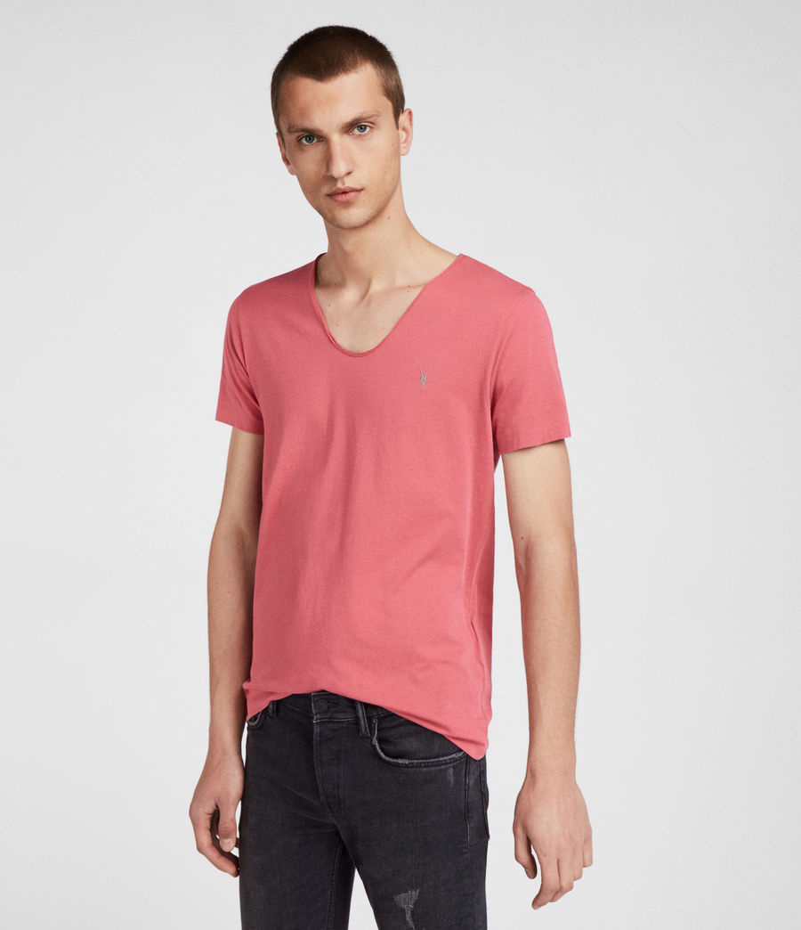 Men's Tonic Scoop T-Shirt (facade_pink) - Image 1