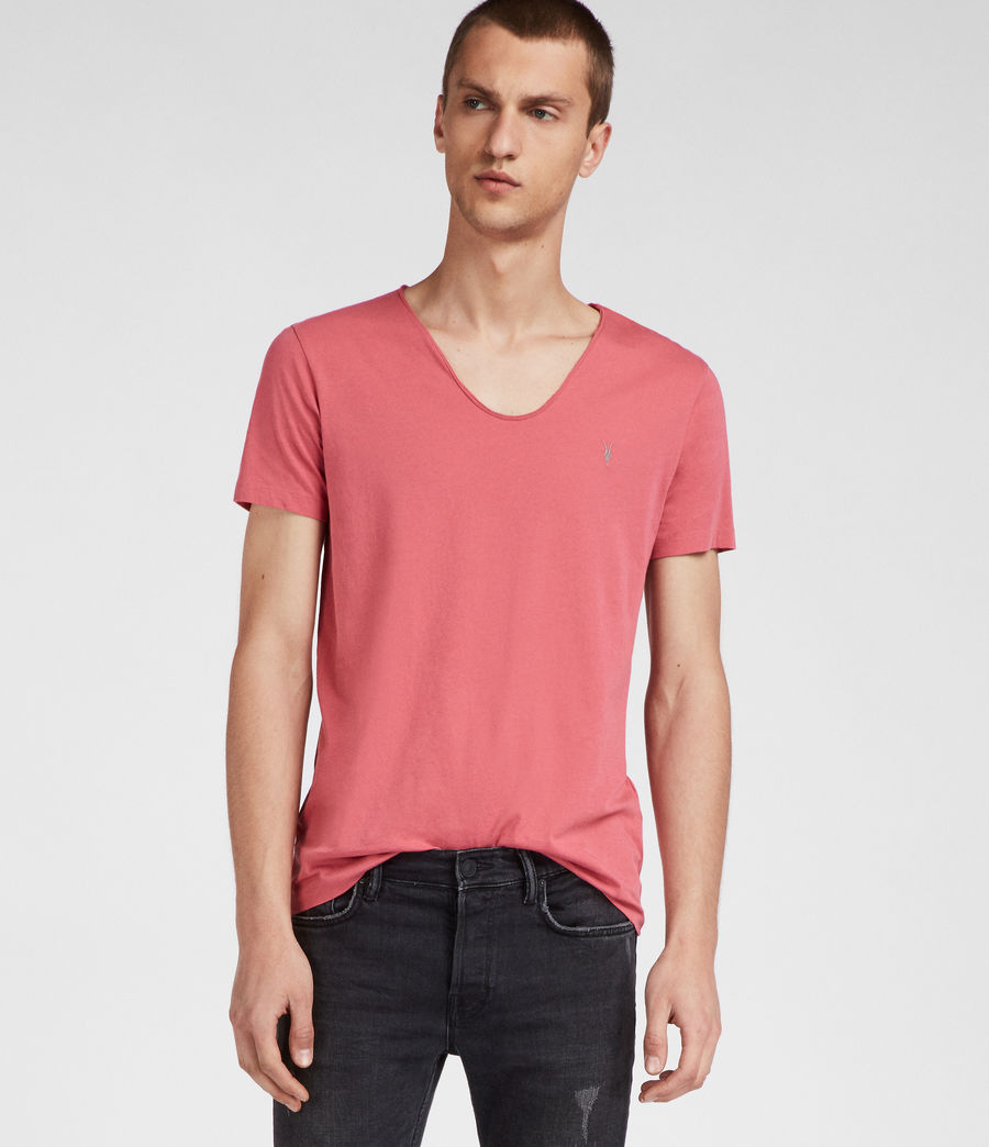 Men's Tonic Scoop T-Shirt (facade_pink) - Image 3