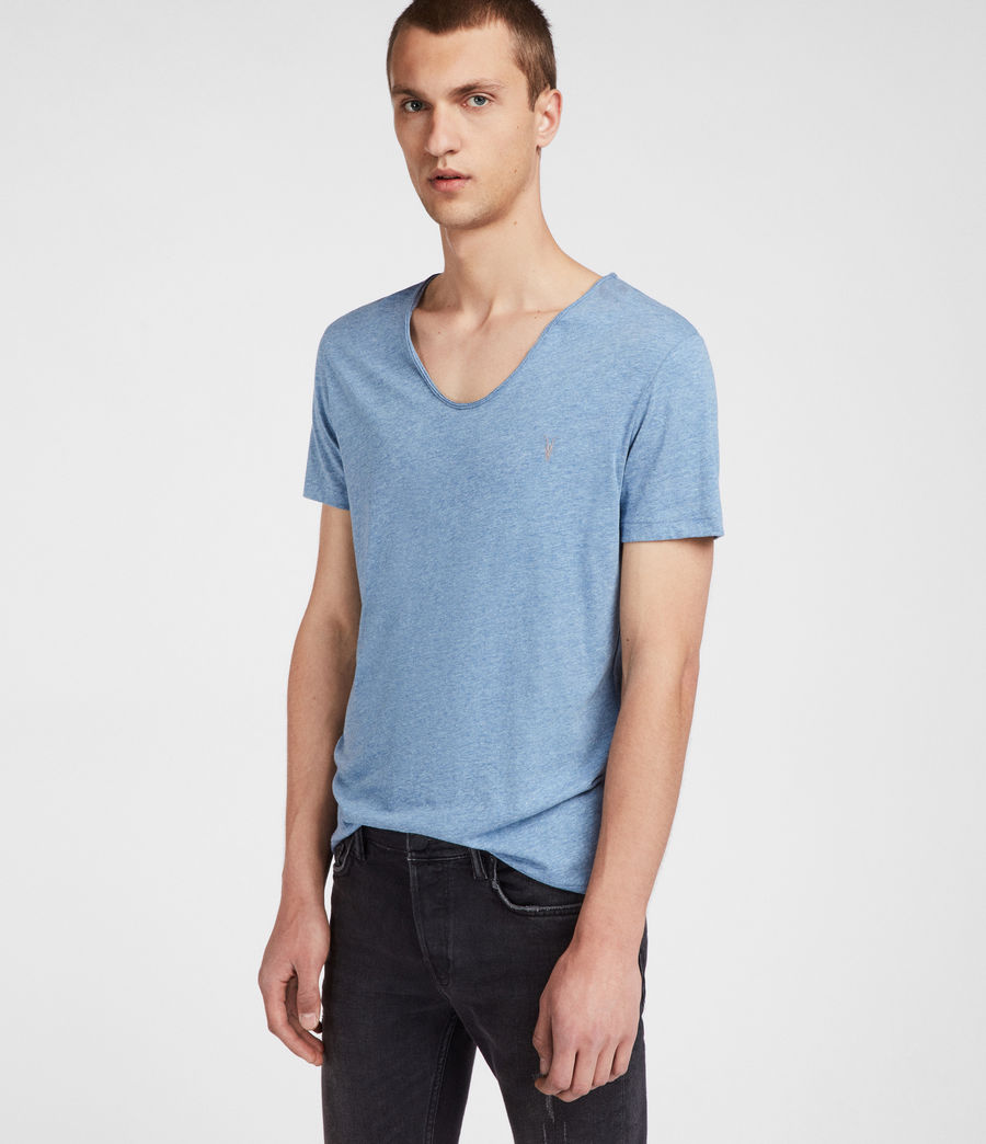 Men's Tonic Scoop T-Shirt (aqua_blue_marl) - Image 1