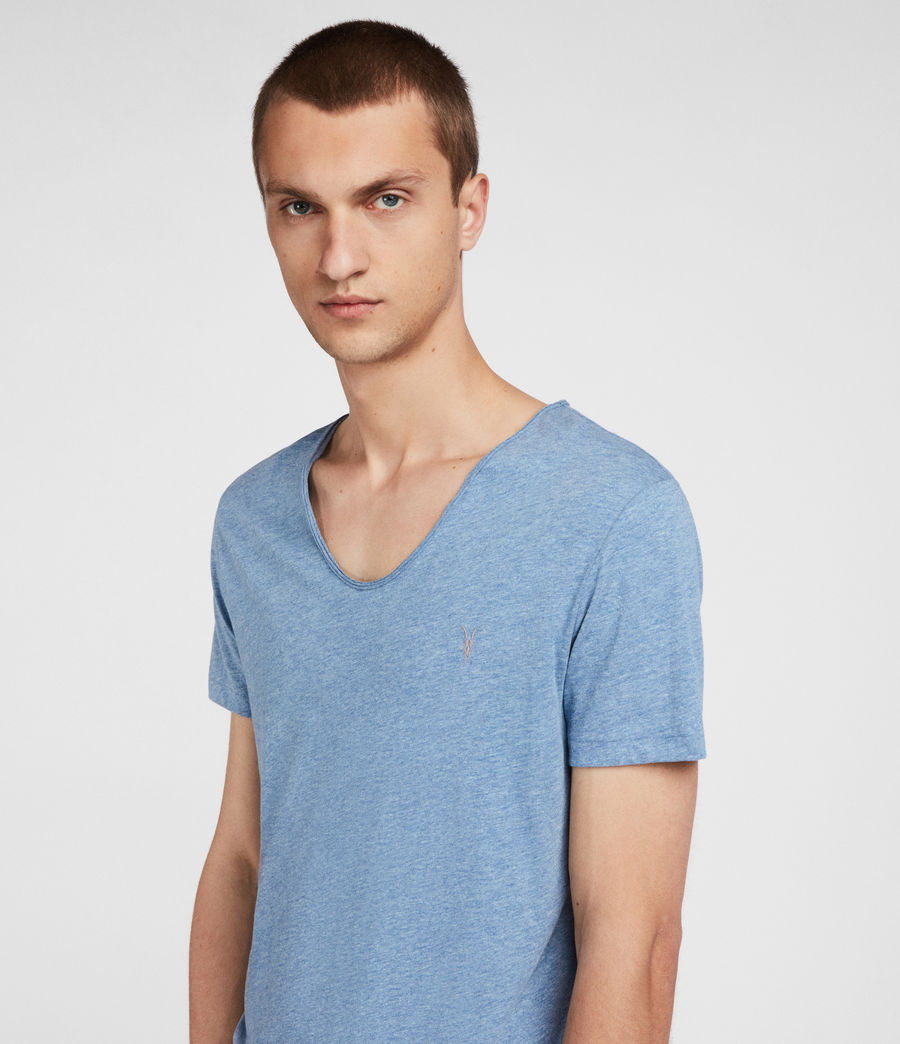 Men's Tonic Scoop T-Shirt (aqua_blue_marl) - Image 2
