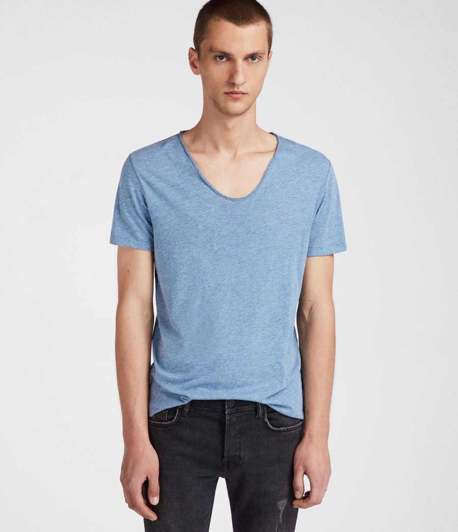 Men's Tonic Scoop T-Shirt (aqua_blue_marl) - Image 3