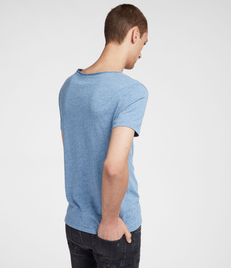 Men's Tonic Scoop T-Shirt (aqua_blue_marl) - Image 4