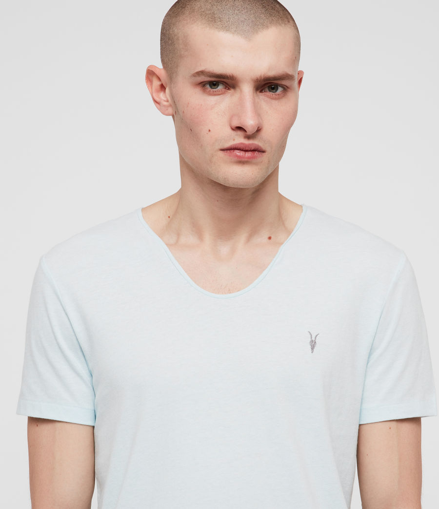 Mens Tonic Scoop T-Shirt (light_aqua_blue_ml) - Image 2