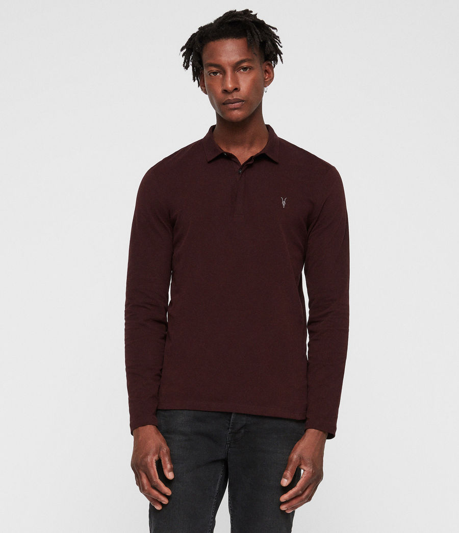 Men's Brace Polo Shirt (deep_red) - Image 1