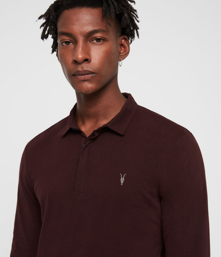 Men's Brace Polo Shirt (deep_red) - Image 3