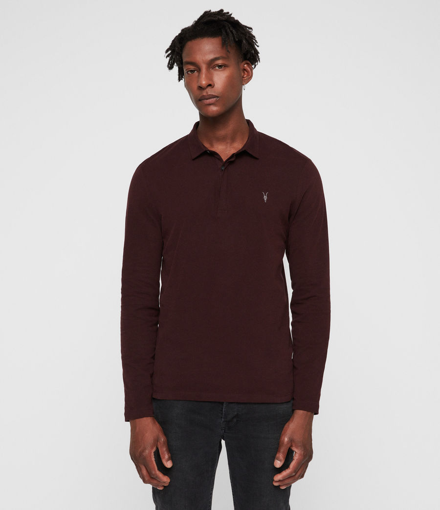 Men's Brace Polo Shirt (deep_red) - Image 4