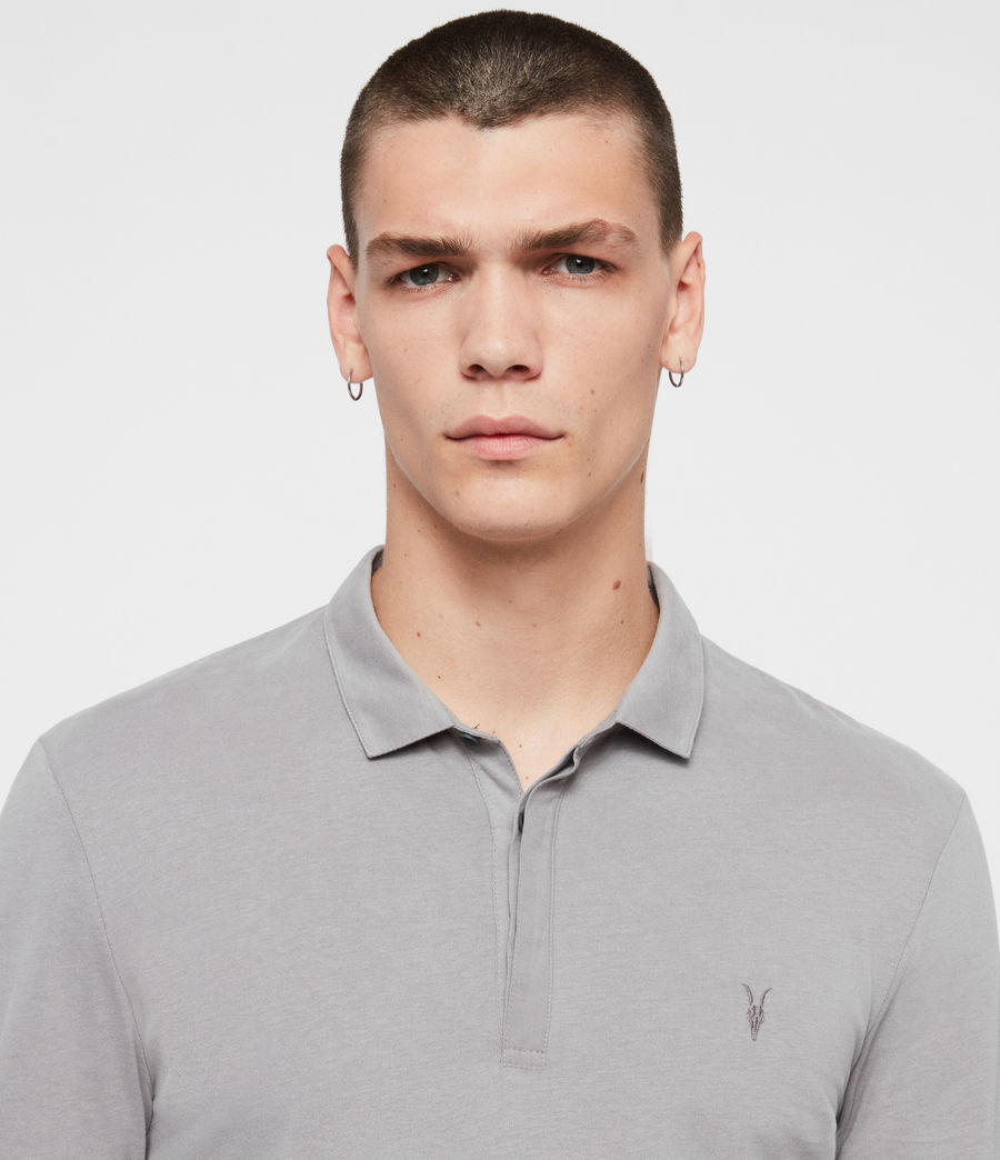 Men's Brace Long Sleeve Polo Shirt (flint_grey) - Image 2