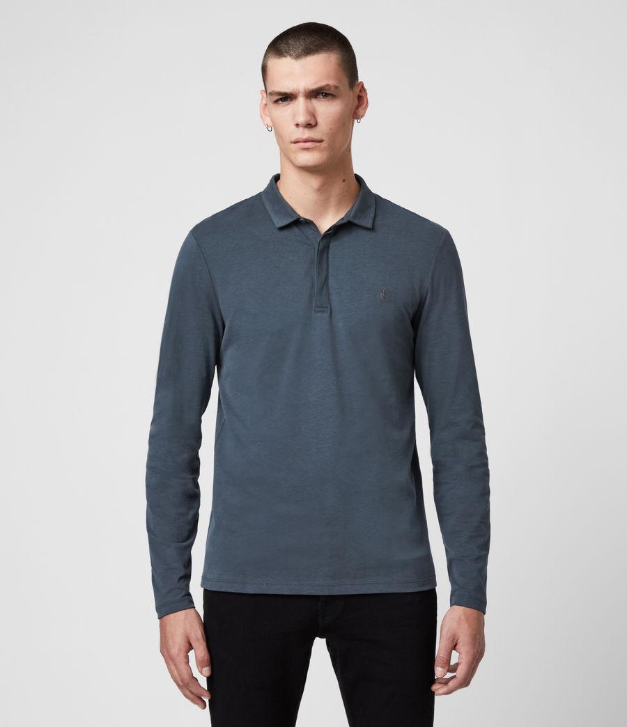 Men's Brace Long Sleeve Polo Shirt (jet_black) - Image 1