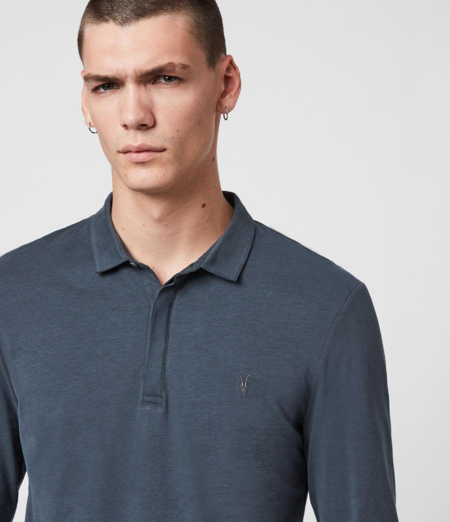 Men's Brace Long Sleeve Polo Shirt (jet_black) - Image 2