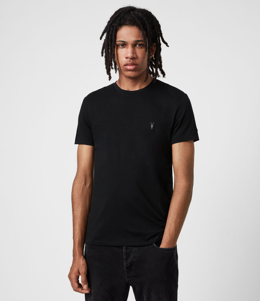Mens Tonic Crew 3 Pack T-Shirts (blk_charcoal_grn) - Image 2
