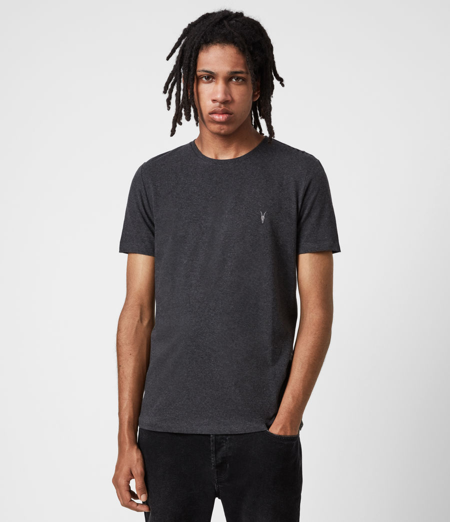 Mens Tonic Crew 3 Pack T-Shirts (blk_charcoal_grn) - Image 4