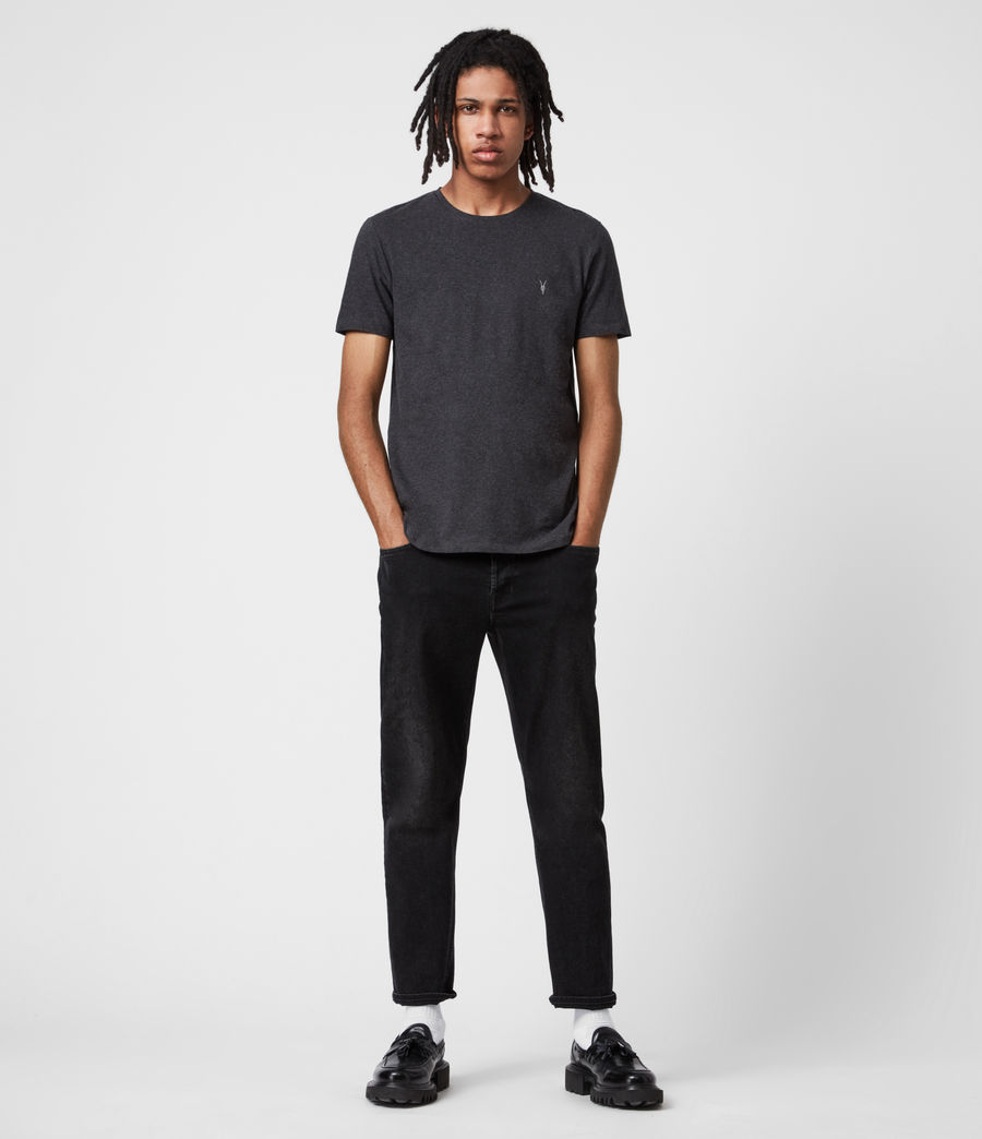 Mens Tonic Crew 3 Pack T-Shirts (blk_charcoal_grn) - Image 6