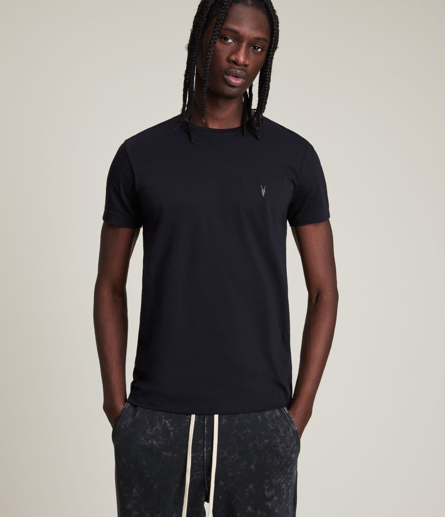 Uomo T-shirt Tonic - Slim in cotone (ink_navy) - Image 1