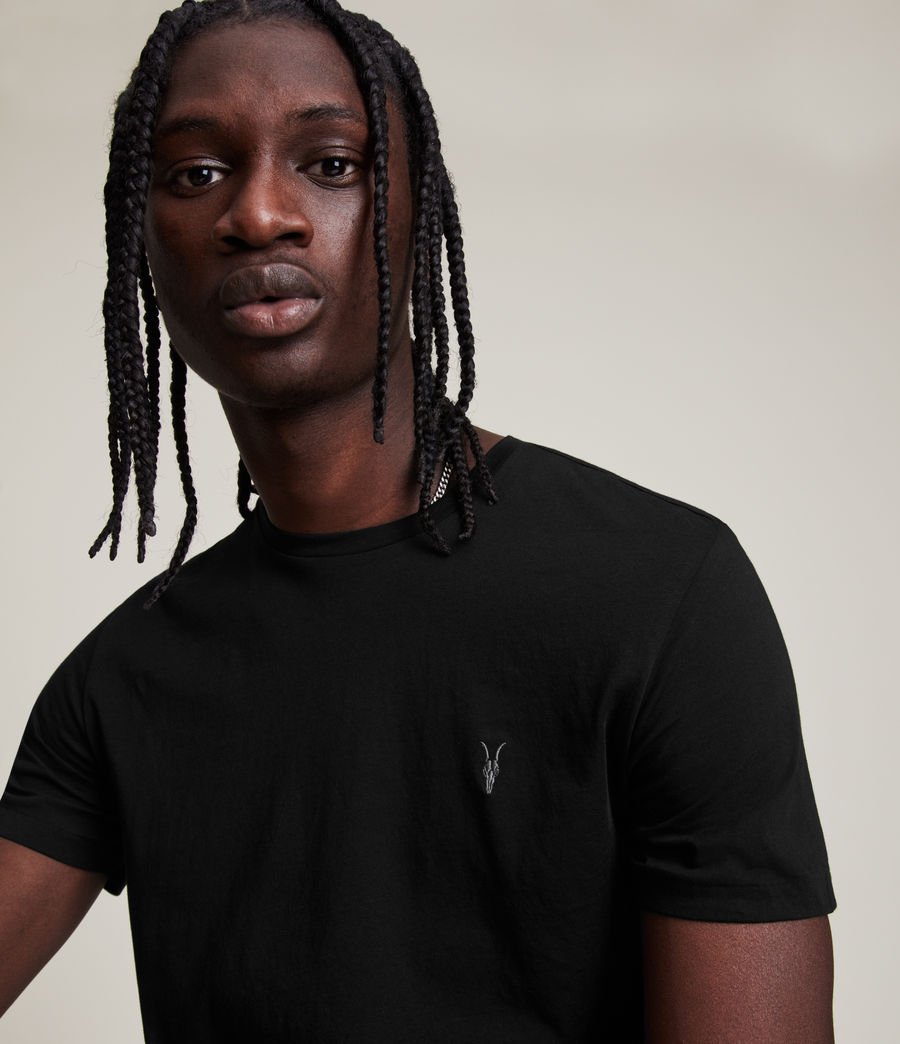 Men's Tonic Crew T-Shirt (Jet Black) - Image 2