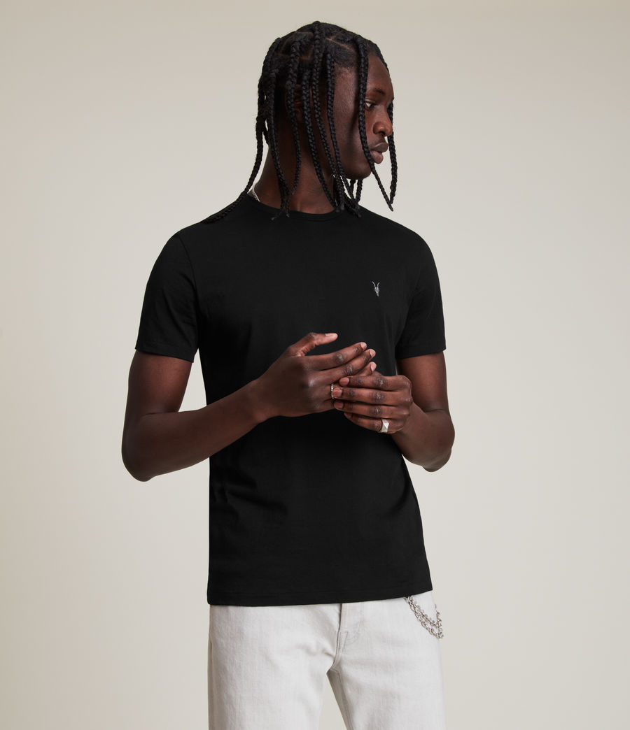 Mens Tonic Crew T-Shirt (jet_black) - Image 4