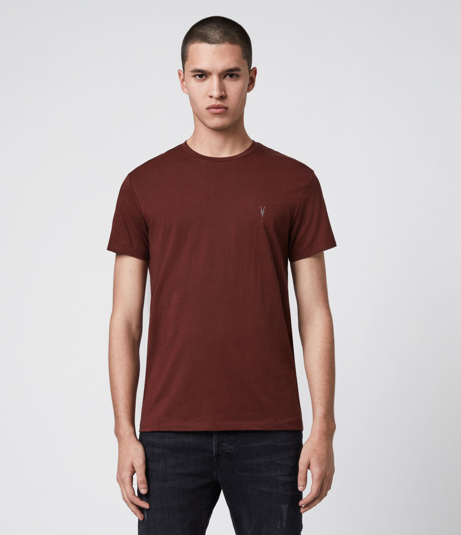 Mens Tonic Crew T-Shirt (maroon_red) - Image 1