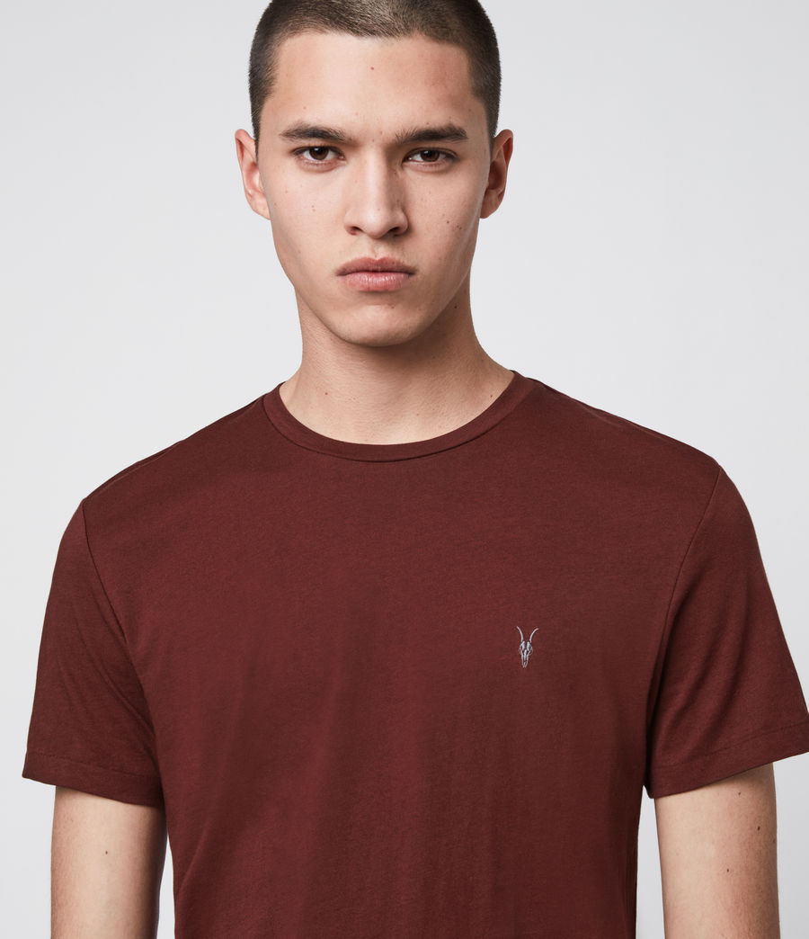 Mens Tonic Crew T-Shirt (maroon_red) - Image 2