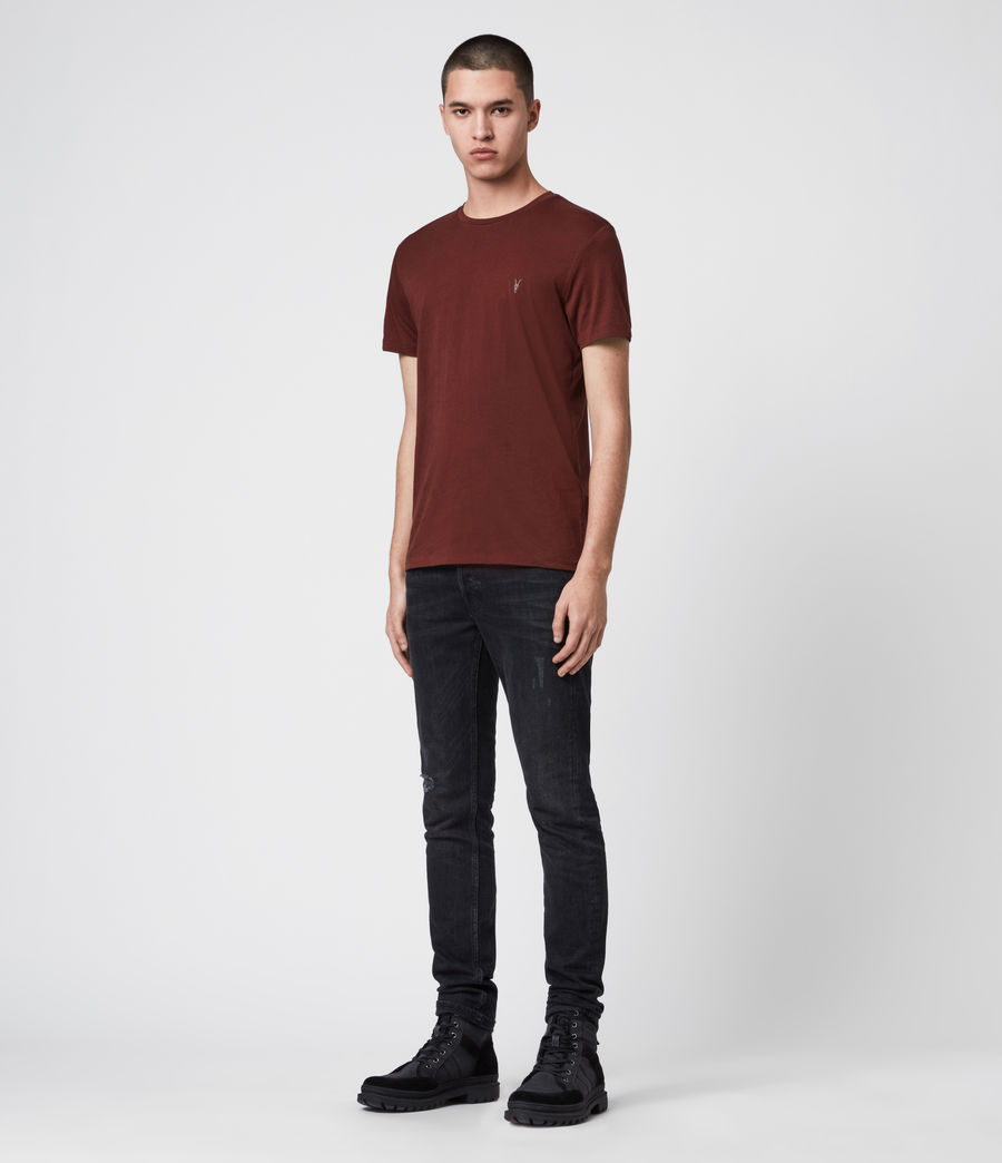 Mens Tonic Crew T-Shirt (maroon_red) - Image 3