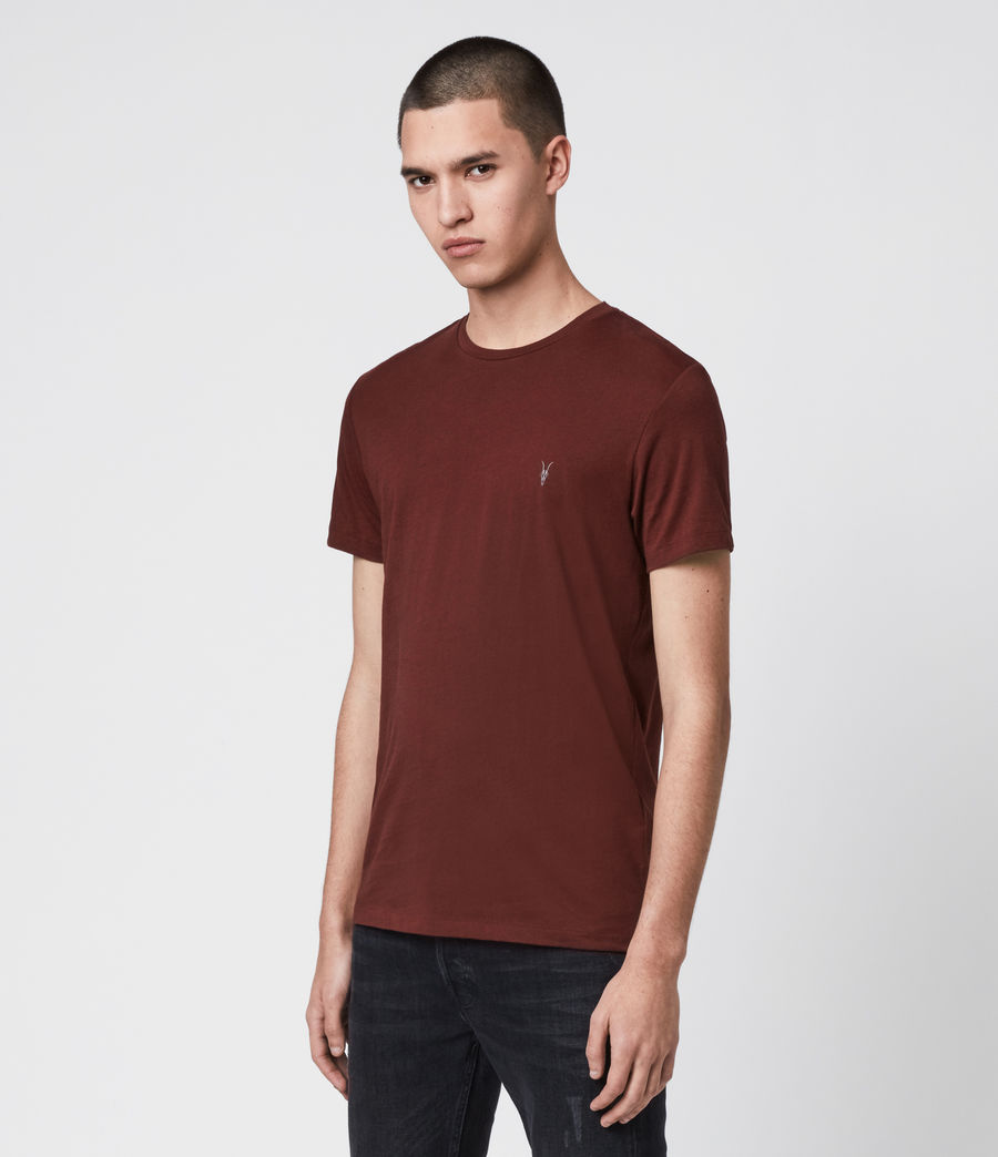 Mens Tonic Crew T-Shirt (maroon_red) - Image 4