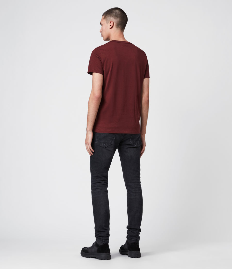 Mens Tonic Crew T-Shirt (maroon_red) - Image 5