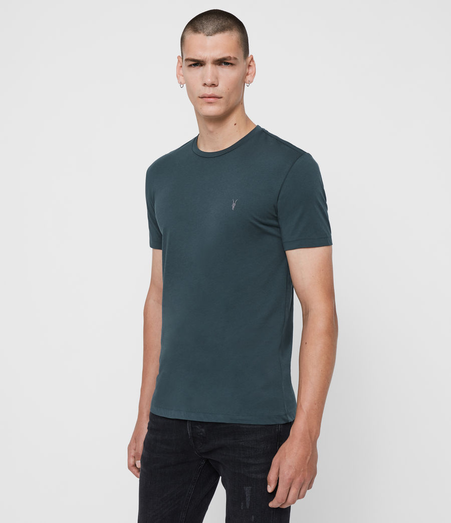 Mens Tonic Crew T-Shirt (teal_blue) - Image 4