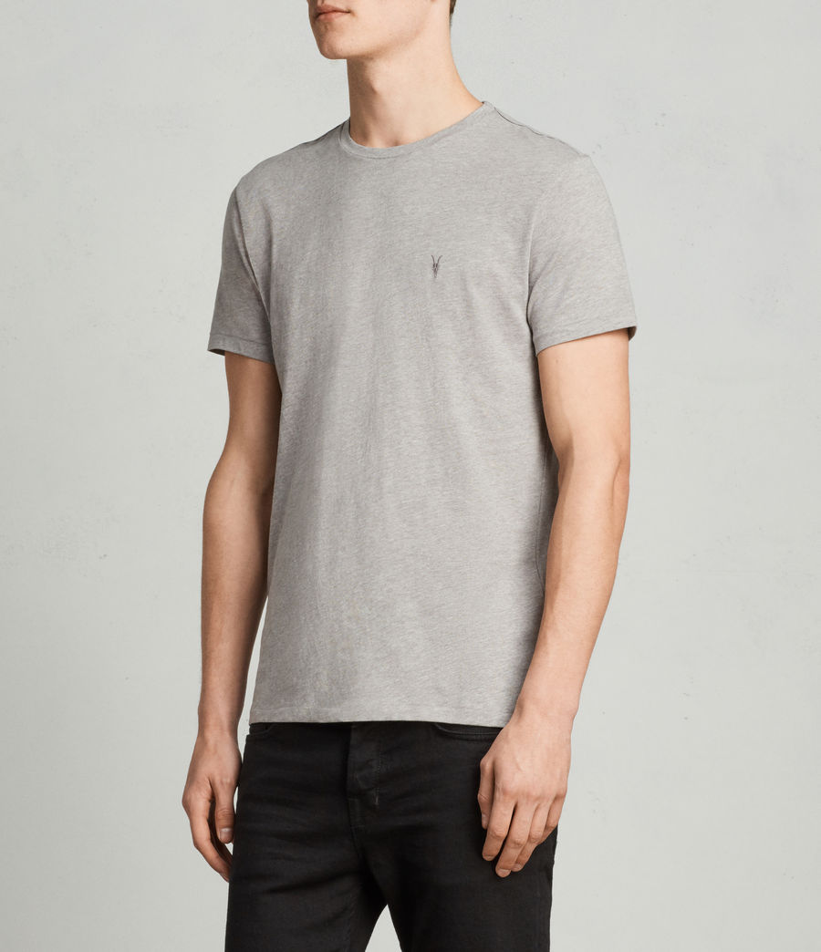 Mens Tonic Crew T-Shirt (putty_brown_marl) - Image 3