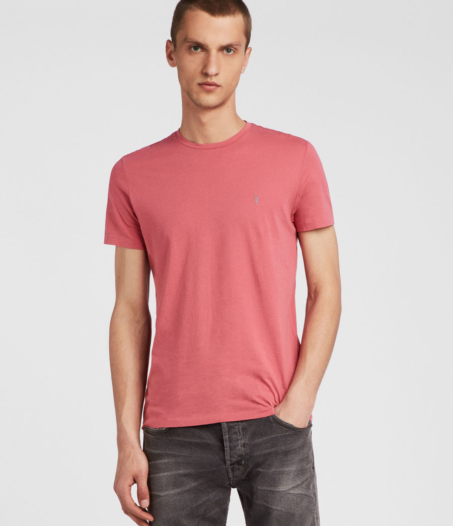Hombres Tonic Crew T-Shirt (facade_pink) - Image 1
