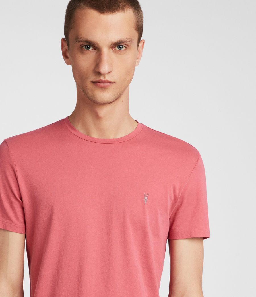 Hombres Tonic Crew T-Shirt (facade_pink) - Image 2