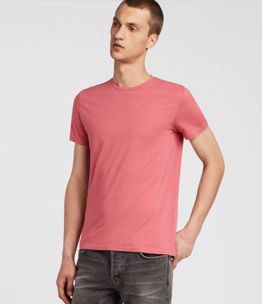 Hombres Tonic Crew T-Shirt (facade_pink) - Image 3