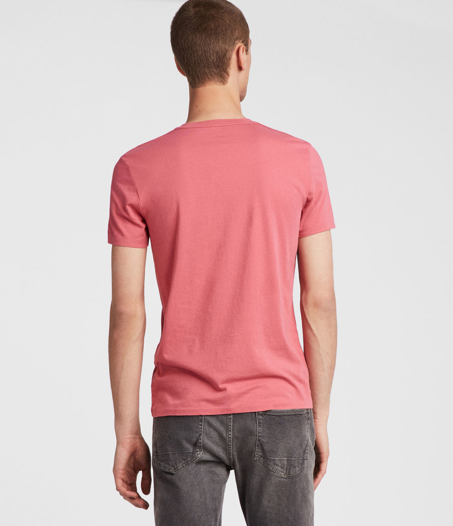 Hombres Tonic Crew T-Shirt (facade_pink) - Image 4