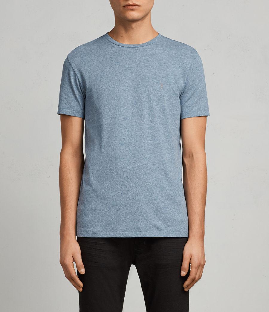 Men's Tonic Crew T-Shirt (aqua_blue_marl) - Image 1