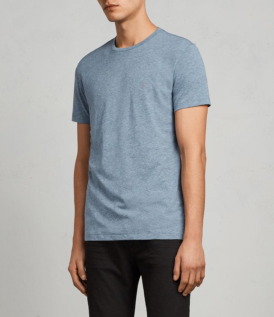 Men's Tonic Crew T-Shirt (aqua_blue_marl) - Image 3