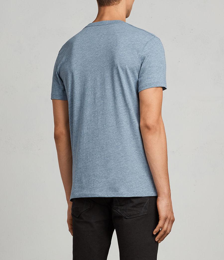 Men's Tonic Crew T-Shirt (aqua_blue_marl) - Image 4