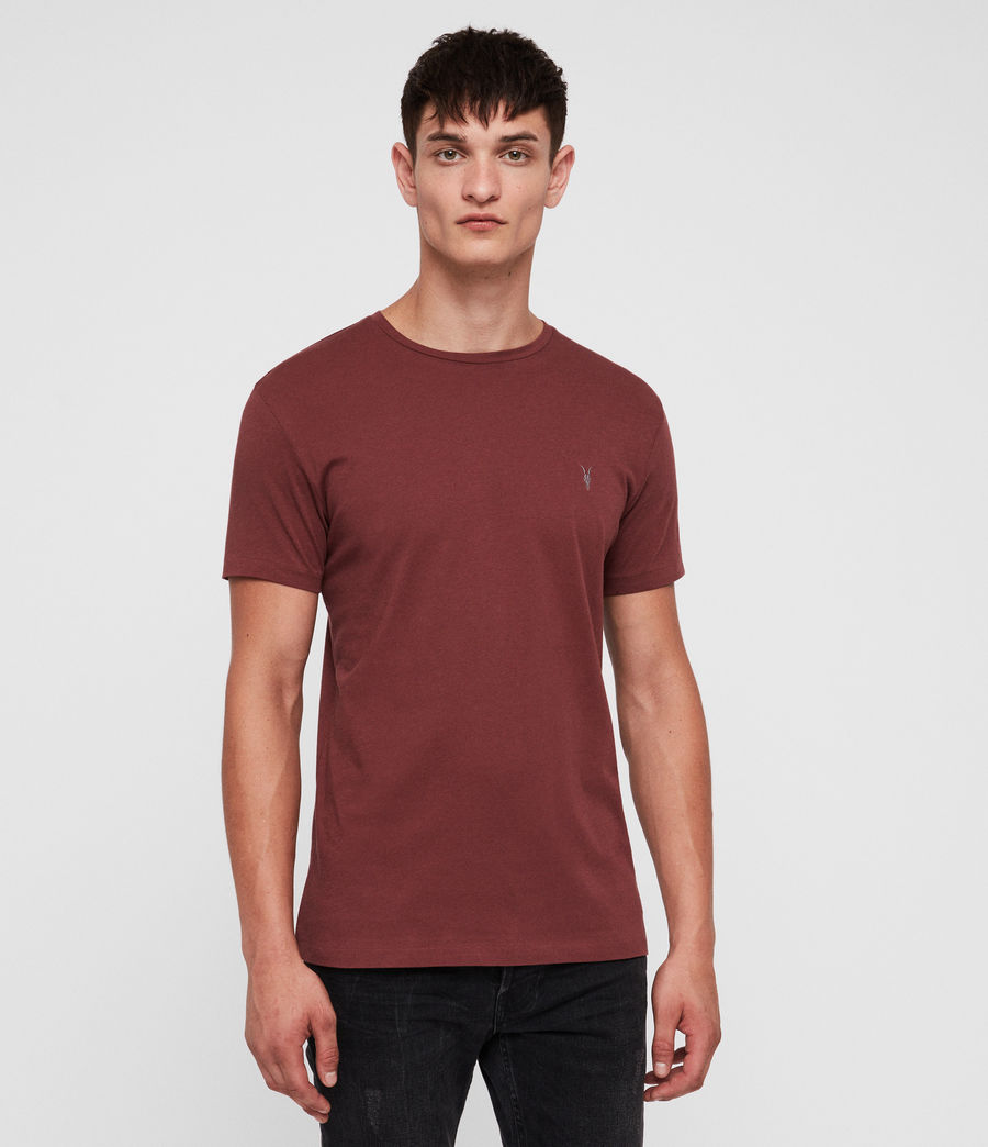 Mens Tonic Crew T-Shirt (garnet_red) - Image 1